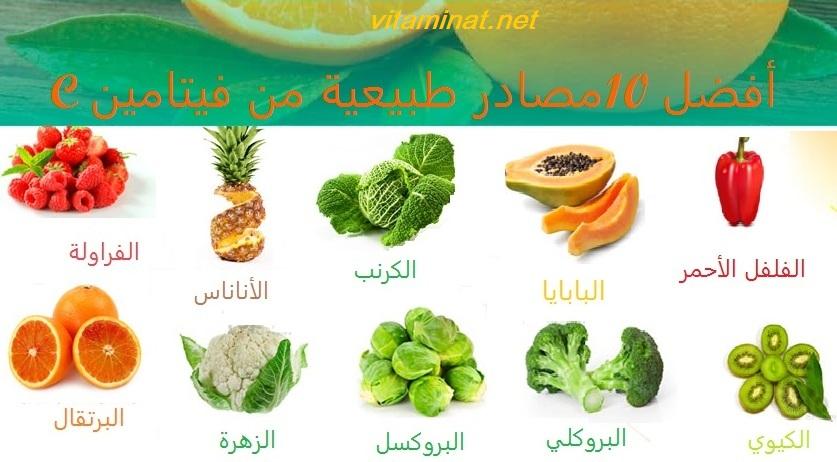 أفضل 10 مصادر طبيعية من فيتامين C فيتاميناتفيتامينات